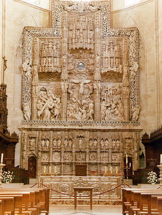 Retablo mayor de la catedral de Huesca, de Damián Forment